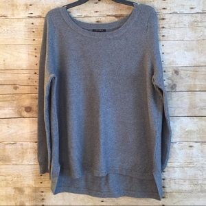 Cyrus Thick Ribbed Gray Pullover Sweater XL